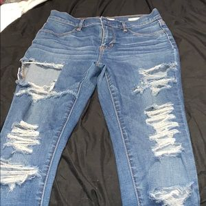 Pac sun blue ripped jeans